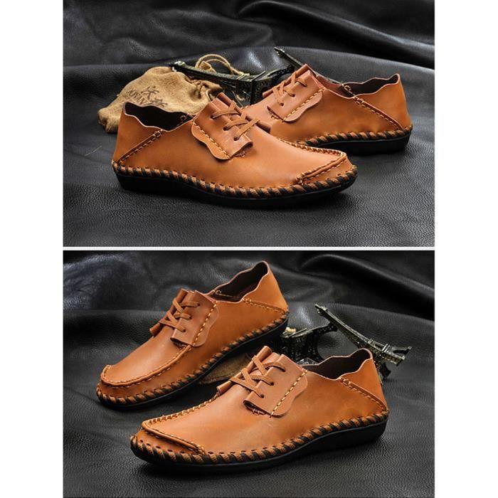 Flâneurs chaussures mais Cuir solide respirant ... sCx7Em