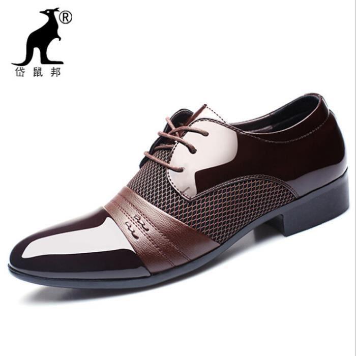 hommes la mode des affaires Chaussure de cuir BOc0DOGt