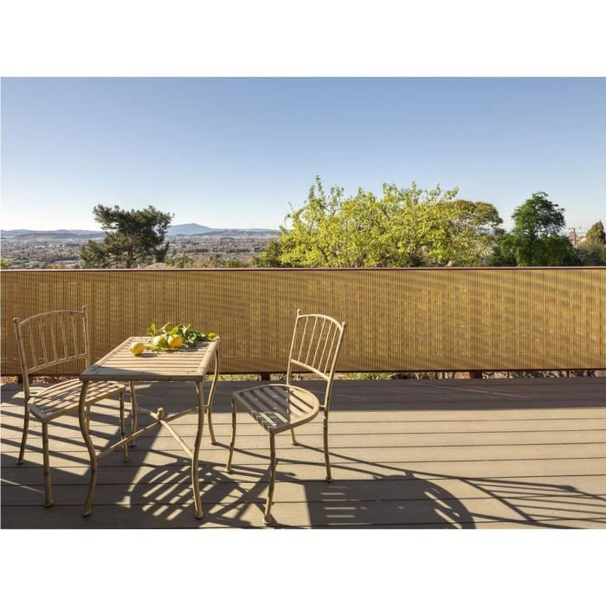 Cache vue en bambou latest bamboo fence roll new fence - Cache vue jardin pas cher ...