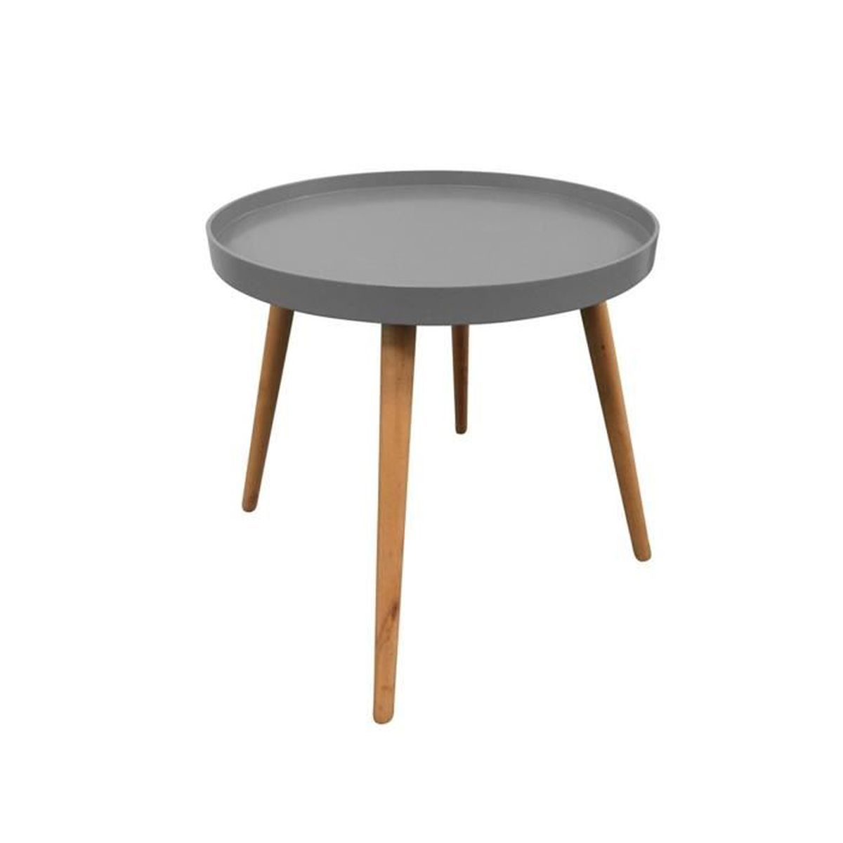 Table Plateau Ronde Grise Achat Vente Table D Appoint Table
