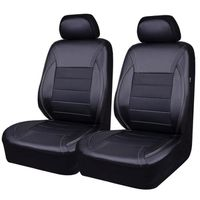car pass housse de siege voiture en cuir universelle compatible airbag 6 pi ces noir et. Black Bedroom Furniture Sets. Home Design Ideas