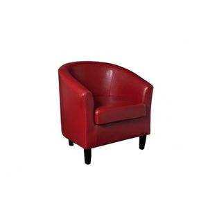 Fauteuil cabriolet BRITISH rouge