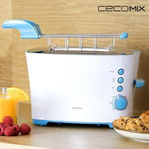 GRILL ÉLECTRIQUE Grille pain toaster 850 W blanc avec support vienn