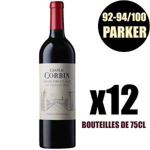 VIN ROUGE X12 Château Corbin 2016 75 cl AOC Saint-Émilion Gr
