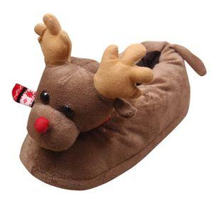 Unisexe en peluche coton Pantoufles hiver cHMud intérieur de Noël Pantoufles CHMussures Noël HM7701 E6LUAKS