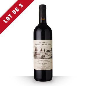 VIN ROUGE 3X Château Bois-Martin 2015 Rouge 75cl AOC Pessac-