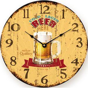 Pendule biere achat vente pendule biere pas cher for Jolie horloge murale