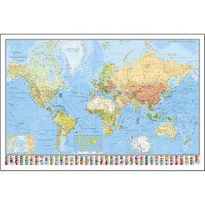 Affiche carte du monde achat vente affiche carte du monde pas cher cdiscount - Poster carte du monde ikea ...