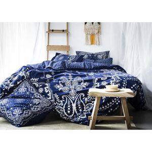 house de couette 240x260 bleu achat vente pas cher. Black Bedroom Furniture Sets. Home Design Ideas