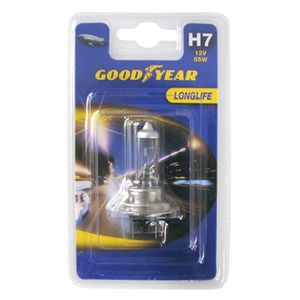 AMPOULE TABLEAU BORD 1 Lampe LongLife H7 12V 55W : Goodyear