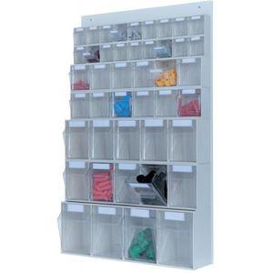 BAC DE RANGEMENT OUTILS Système de stockage Multistore 4 Sbl. PS gris clai