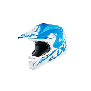 CASQUE MOTO SCOOTER Casque moto cross HX 179 FLASH taille bleu-blanc-b