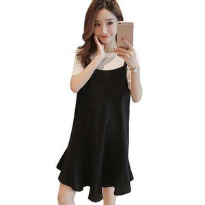 0324ca334c7 ROBE Femmes coréenne Casual Coton Prêt sexy robe de soi