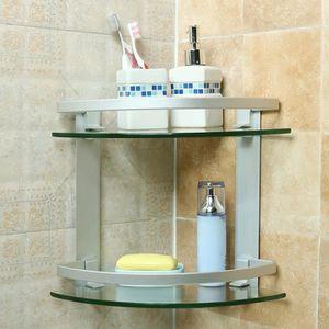 etagere salle de bain verre achat vente etagere salle. Black Bedroom Furniture Sets. Home Design Ideas