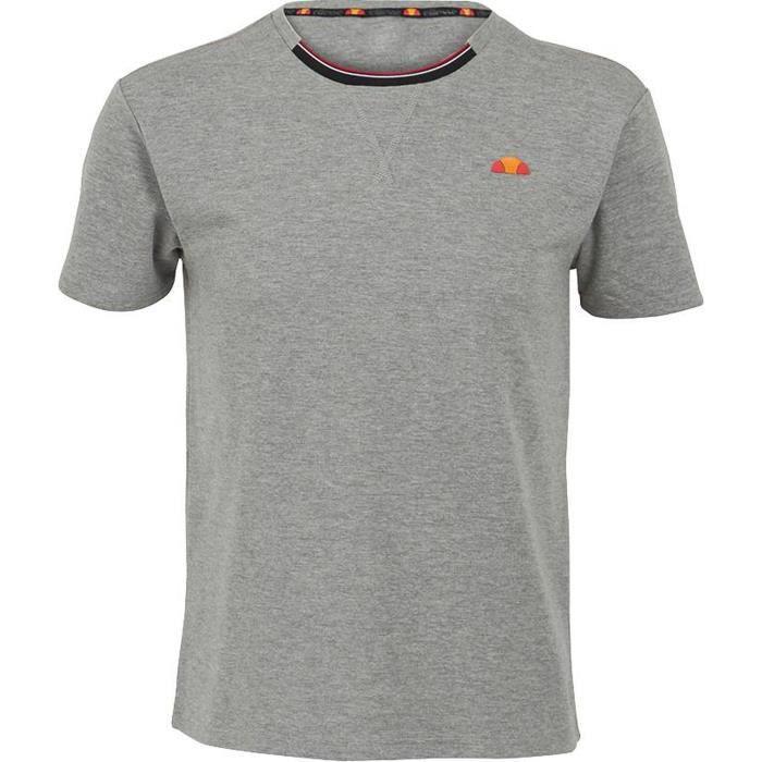 ELLESSE T-shirt Emilien Corpo - Manches Courtes - Homme - Gris chiné