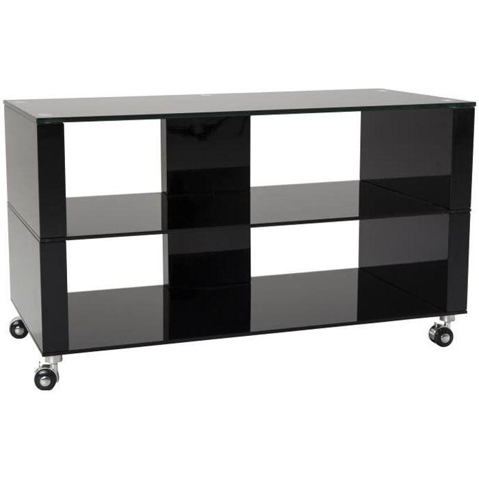 Doté d'une allure contemporaine et d'un aspect laqué noir brillant, le meuble TV design BOSTON s'inspire des tendances modernes sans trop en faire. Original et élégant à la fois, il s'intègrera facilement dans un salon branché. Idéalement conçu pour un éc