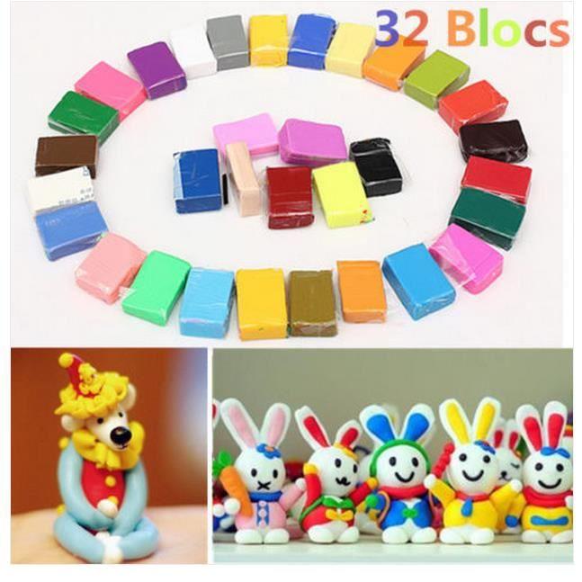 32 blocs de pate fimo soft 224 l unit 233 diverse couleur modeler color 233 cr 233 atif achat vente