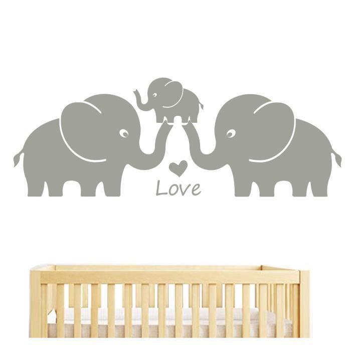 BDECOLL famille éléphant stickers muraux, éléphant decoration ...