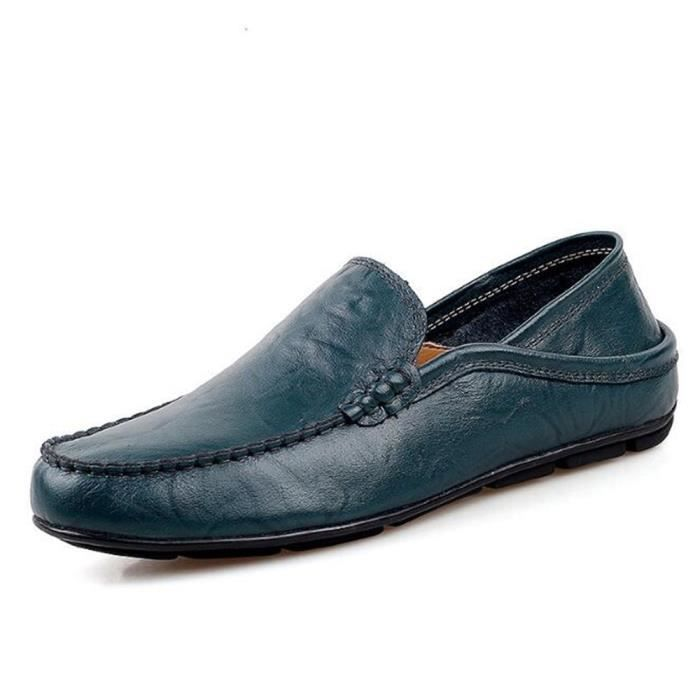 Moccasin homme En Cuir Marque De Luxe Confortable chaussure hommes Loafer Nouvelle Mode 2017 ete chaussures Grande Taille 44 ssZdvHF
