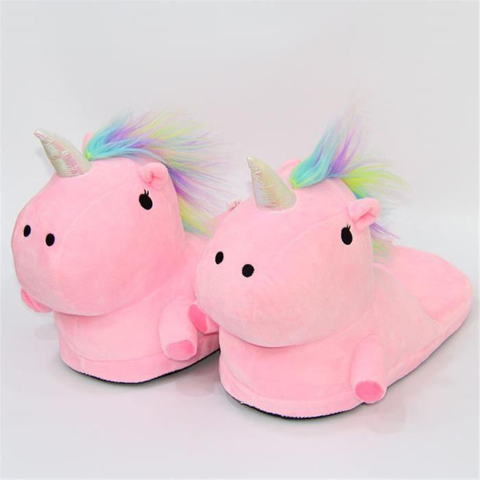 Unicorn slippers Chaussons Hiver Chaud Chaussures Femmes SéRie à Domicile Chausson Femme Mignon Chaussures Plusieurs Couleurs yM3iJ