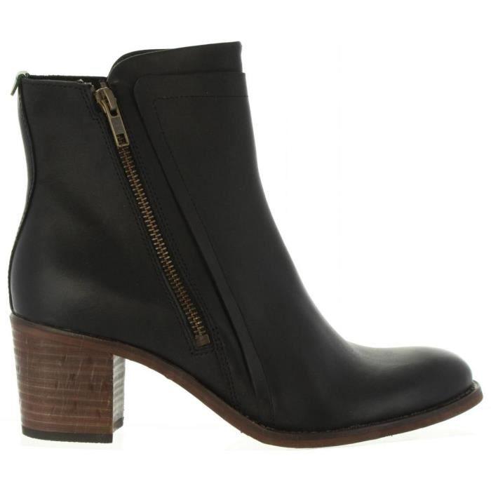 bottes pour femme kickers 576390 50 jessy 8 noir noir noir. Black Bedroom Furniture Sets. Home Design Ideas