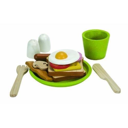 plan toys jeu en bois assiette petit d jeuner achat vente dinette cuisine cdiscount. Black Bedroom Furniture Sets. Home Design Ideas