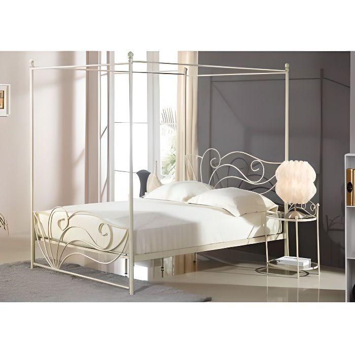 lit baldaquin imperatrice 140x190cm m tal fa achat. Black Bedroom Furniture Sets. Home Design Ideas