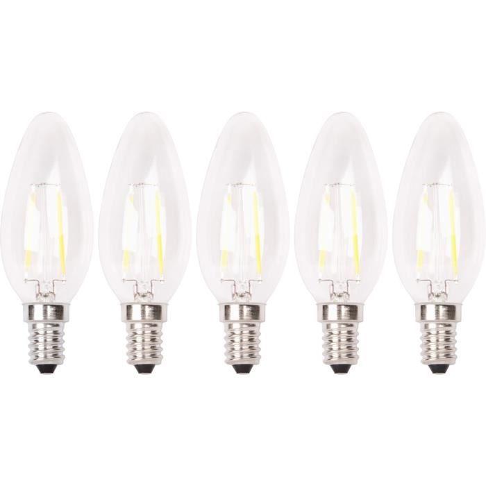 Ampoules De 2w Filament 20w Flamme Led 5 E14 Lot lite Équivalence Xq qA6wIUU