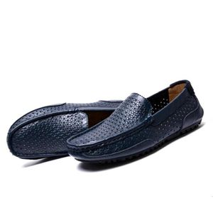 Mocassin Hommes Cuir Loafer Detente Casual Chaussure BZH-XZ089Bleu38 8yCIa