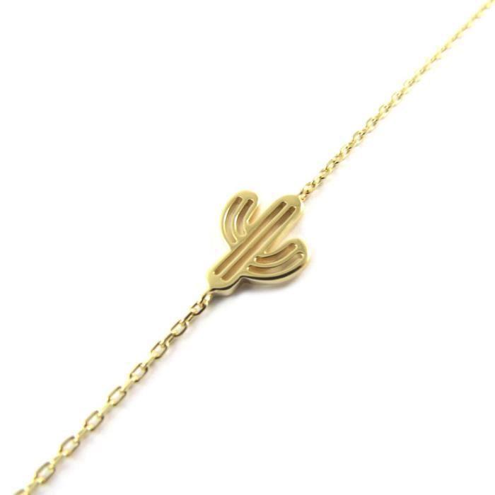Bracelet Plaqué or Cactus doré... [P0702]