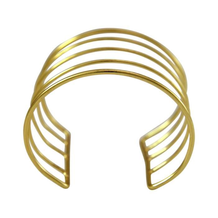 Gemshine - Dames - Bracelet - Bracelet - or - Design - Scandi - Minimaliste - géométrique - Design - 7 cm