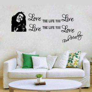 """TABLEAU - TOILE Bob Marley Quote """"Love The Life You Live&quot"""