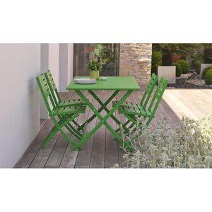 Table de jardin pliante verte - Achat / Vente pas cher