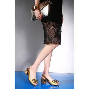 cheville Strap femmes pompe Pures hauts talons Sandales de couleur WHY1IqpU
