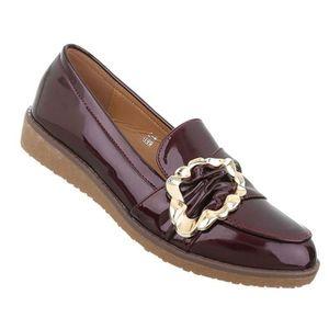 MOCASSIN Chaussures femmes flâneurs babouche Bordeaux 41