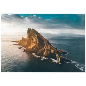 TABLEAU - TOILE Panorama® Tableau Île de Faroes 100 x 70 cm - Impr