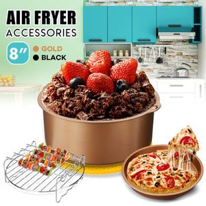 FRITEUSE ELECTRIQUE 4Pcs Set 8INCH Air Friteuse Accessories Barbecue B