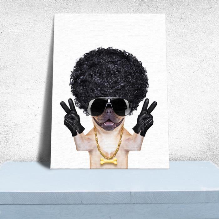Montawa ®Chien intérieur citations à la mode Stickers muraux Photo peinture encadrée Pop Art Poster-011