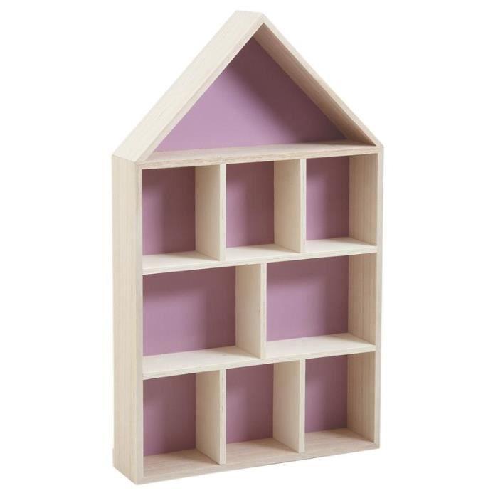 Etagère maison en bois 9 cases   Achat / Vente etagère murale