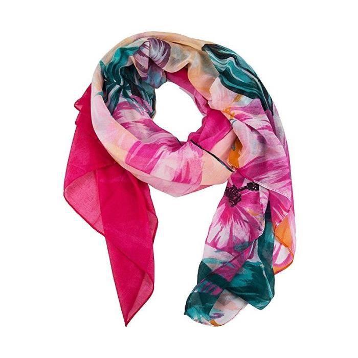 Foulard Desigual Malibu Rectangle - Achat   Vente echarpe - foulard ... f89d0c9b269