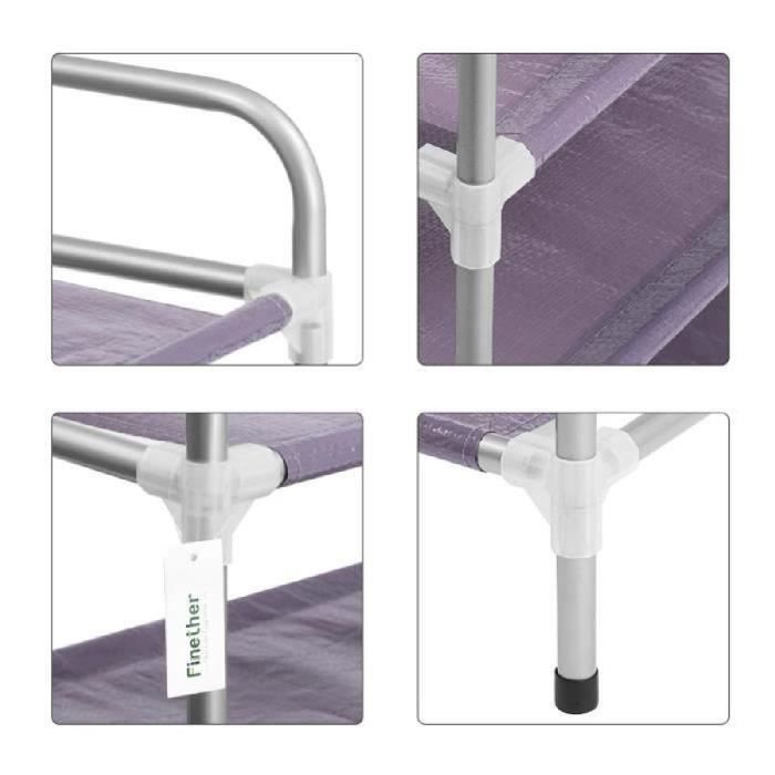 Finether tag re chaussure empilable r glable 6 niveaux tag res stockage pour entr e salon - Etagere a chaussure ...