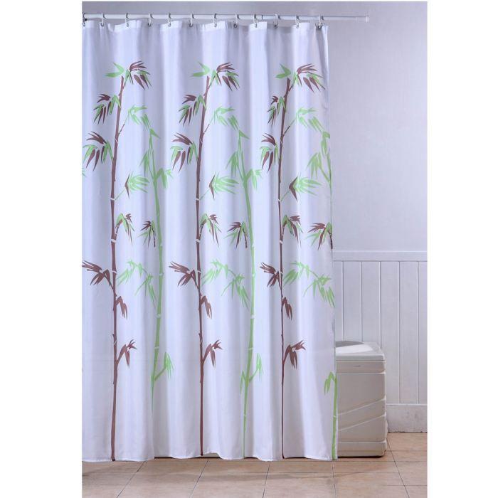 Frandis Rideau De Douche Textile Tige Bambou Achat Vente Rideau