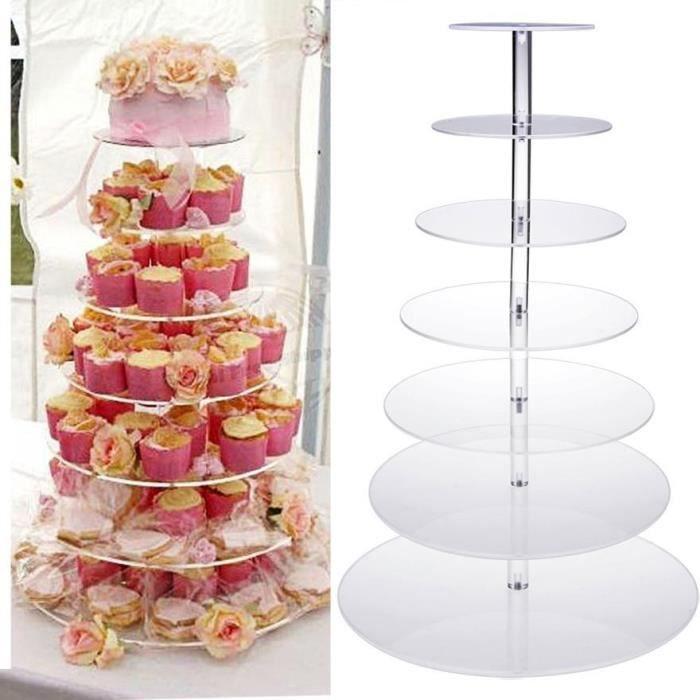 support de gâteau présentoir à gâteau 7 chaud niveau cercle