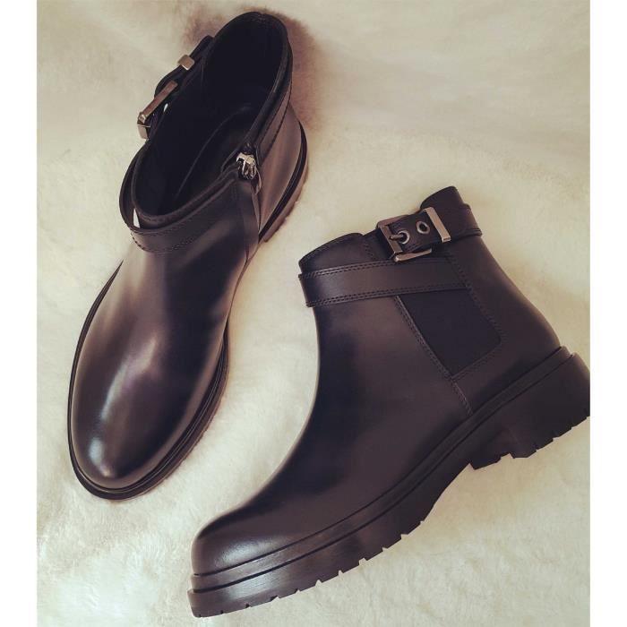 glissière de fond plat Chevalier des bottes de bottines épaisseur Martin bottes.