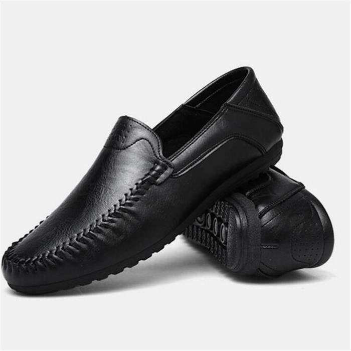 Chaussures 2017 la Luxe Travail Haut Antidérapant Cuir De ete homme Taille De Marque à qualité En Grande main Moccasin rqr4X