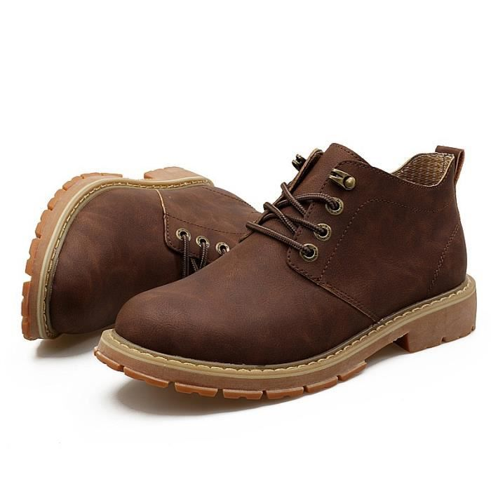 High Top Ajouter laine Bottines Homme