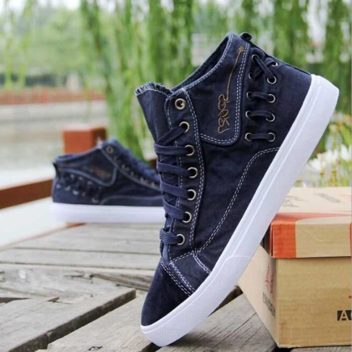 Montantes Homme Mode Bleu Basket Shoes Skate Toile Chaussures Chaussure dBECrQxWoe