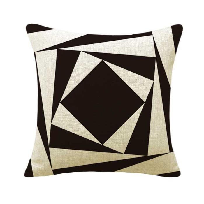 coussin design noir et blanc interesting housse de. Black Bedroom Furniture Sets. Home Design Ideas