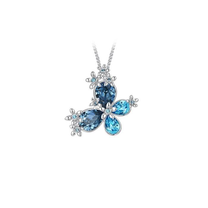 Pendentif Papillon en Cristal de Swarovski Elements - Taille unique