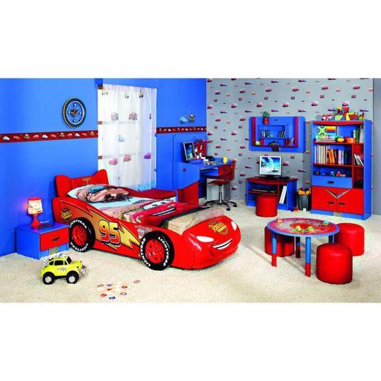 Disney Chevet Bleu Avec Coloris Un Design Tiroir Table 44 Et Cm De Cars Rouge 1TFK3lJc
